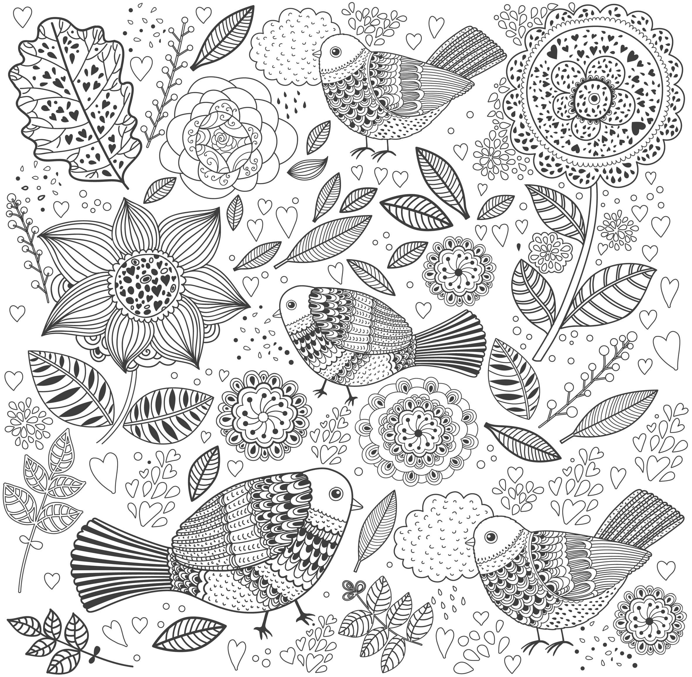Flower garden coloring pages printable - Coloriage Inspiration Amazonie Des Coloriages Anti Stress En Printable Gratuit Coloring For Adultsadult Coloring Pagesgarden