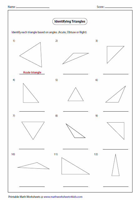 Triangle Classification Based On Angles Math Triangle