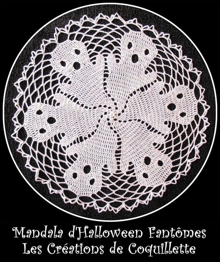 mandala halloween gespenst deckchen traumfänger