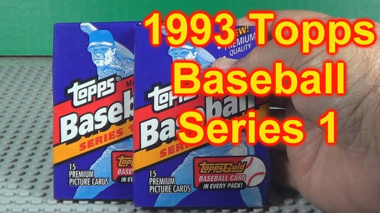 1993 topps baseball cards opening 3 packs rookie year of