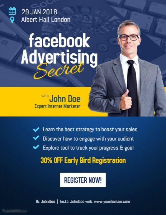 Facebook Advertising Flyer poster Modern Business Flyer Template