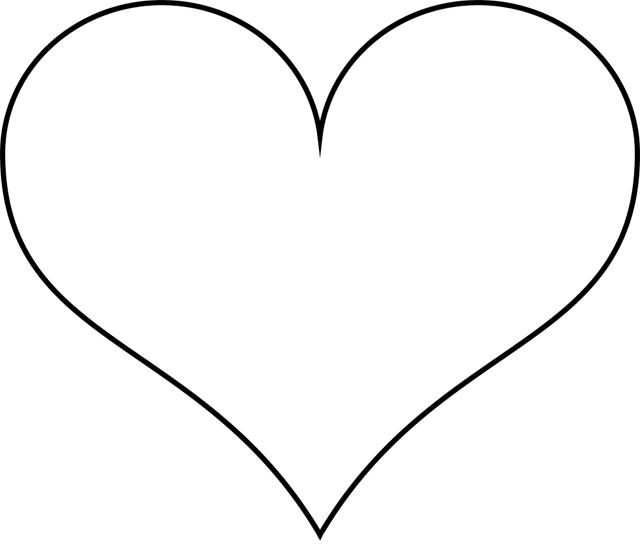 Coeur Simple2 Coeur A Colorier Dessin De Coeur Dessin Coeur