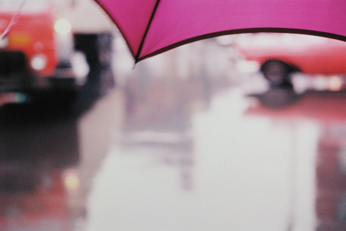 Purple Umbrella, 1950s - Saul Leiter