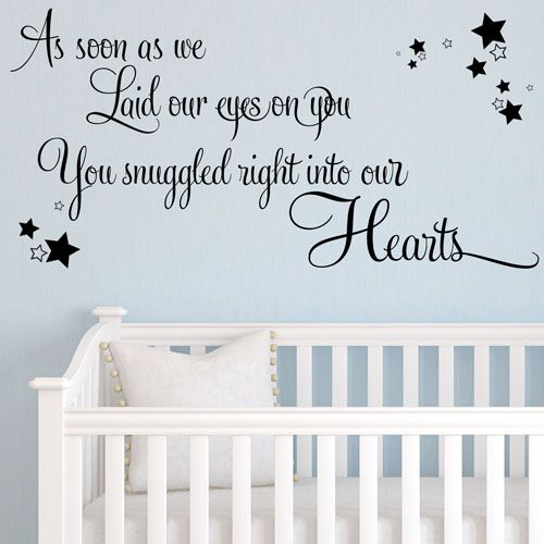 As Soon As We Laid Our Eyes On You Baby Wall Sticker Nursery ~ Wall Sticker  / Decals Part 41