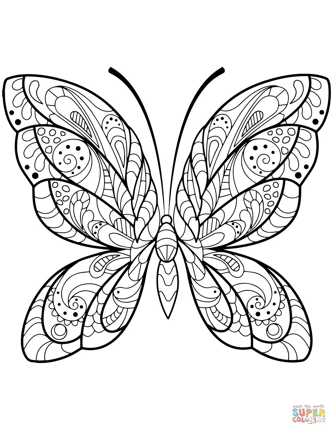 Free Butterfly Coloring Pages Butterfly Coloring Pages Free Coloring Pages Entitlementtrap Com Butterfly Coloring Page Insect Coloring Pages Pattern Coloring Pages