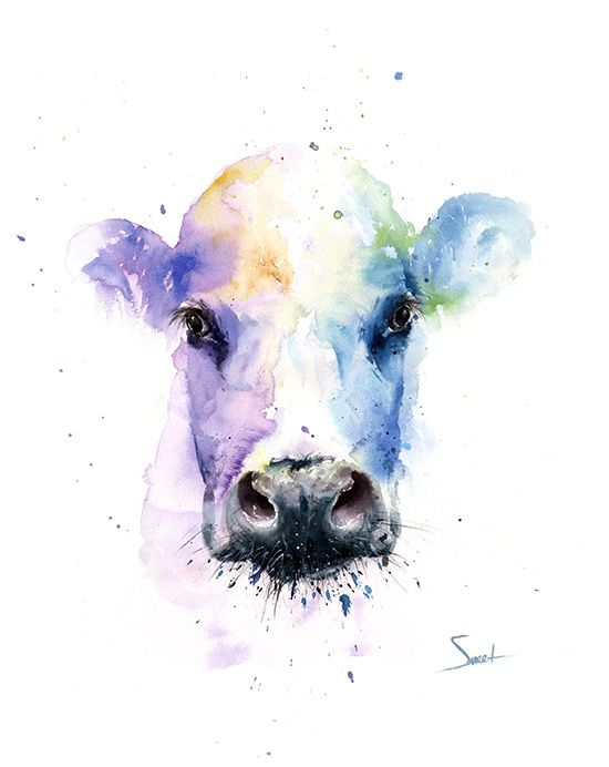 cow watercolor painting artist eric sweet | Paintings of Cows ...