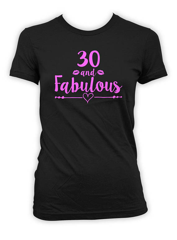 0e7ff64db 30th Birthday Gift Ideas For Her Dirty Thirty Birthday T Shirt Custom Age  Bday Present For Women B D