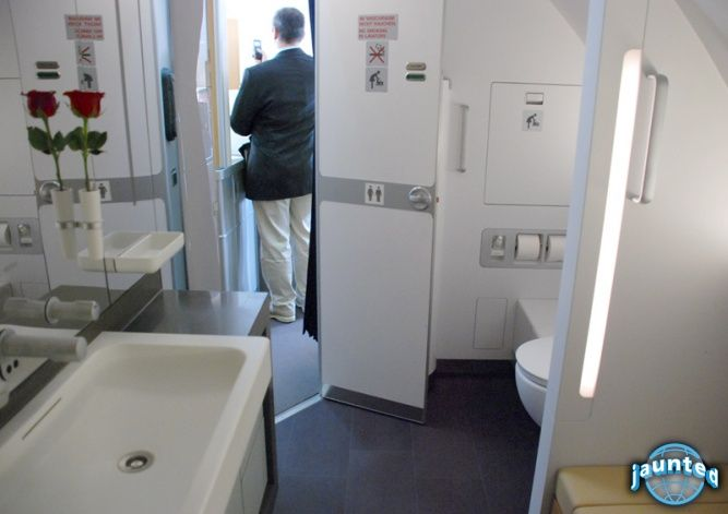 Lufthansa first class bathroom images for First bathrooms