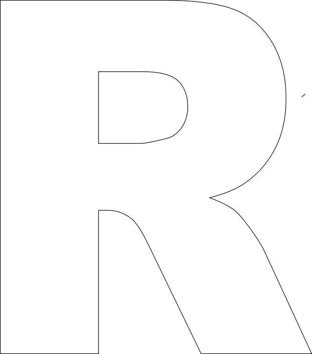 Amazing image intended for printable letter r