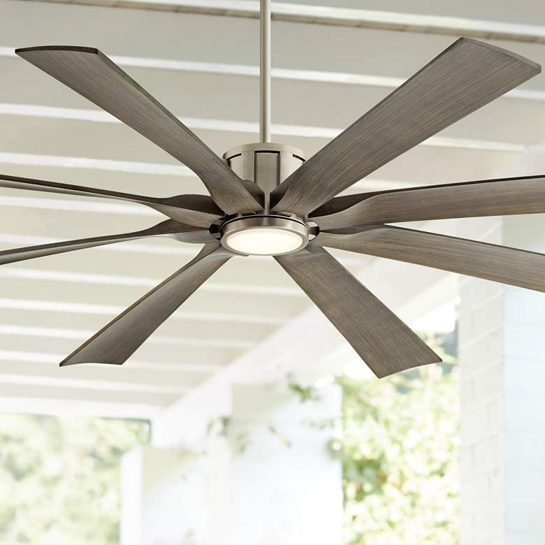 70 defender brushed nickel and light wood led ceiling fan 70v69 lamps plus with antero 54 inch