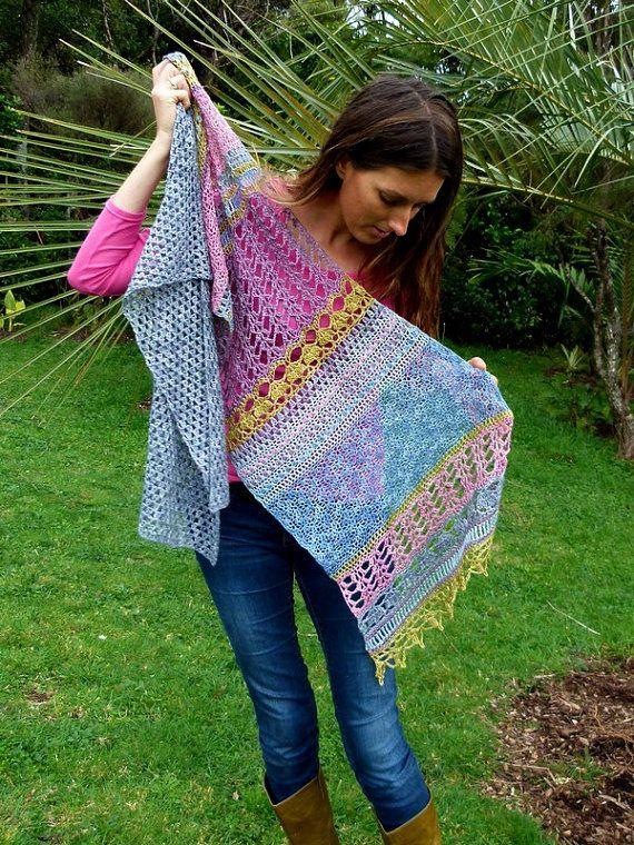 Crochet Wrap Pattern Instant Download Monsoon by TheLittleBeeNZ ...