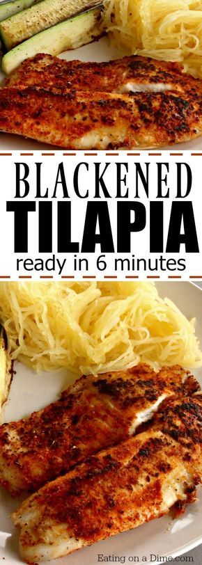 Photo of The Best Blackened Tilapia Recipe – Eating on a Dime