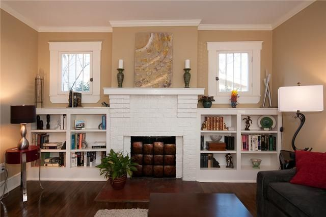 Built In Bookcases Around Fireplace Shelving