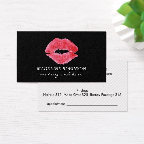 Beautician Business Card Business Cards Beauty Beautician Business Cards Makeup Artist Business Cards