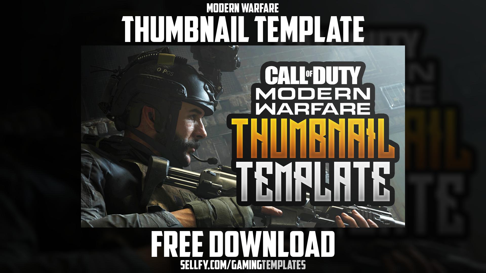Modern Warfare Free Youtube Thumbnail Template Photoshop Template In 2020 Modern Warfare Warfare Photoshop Template