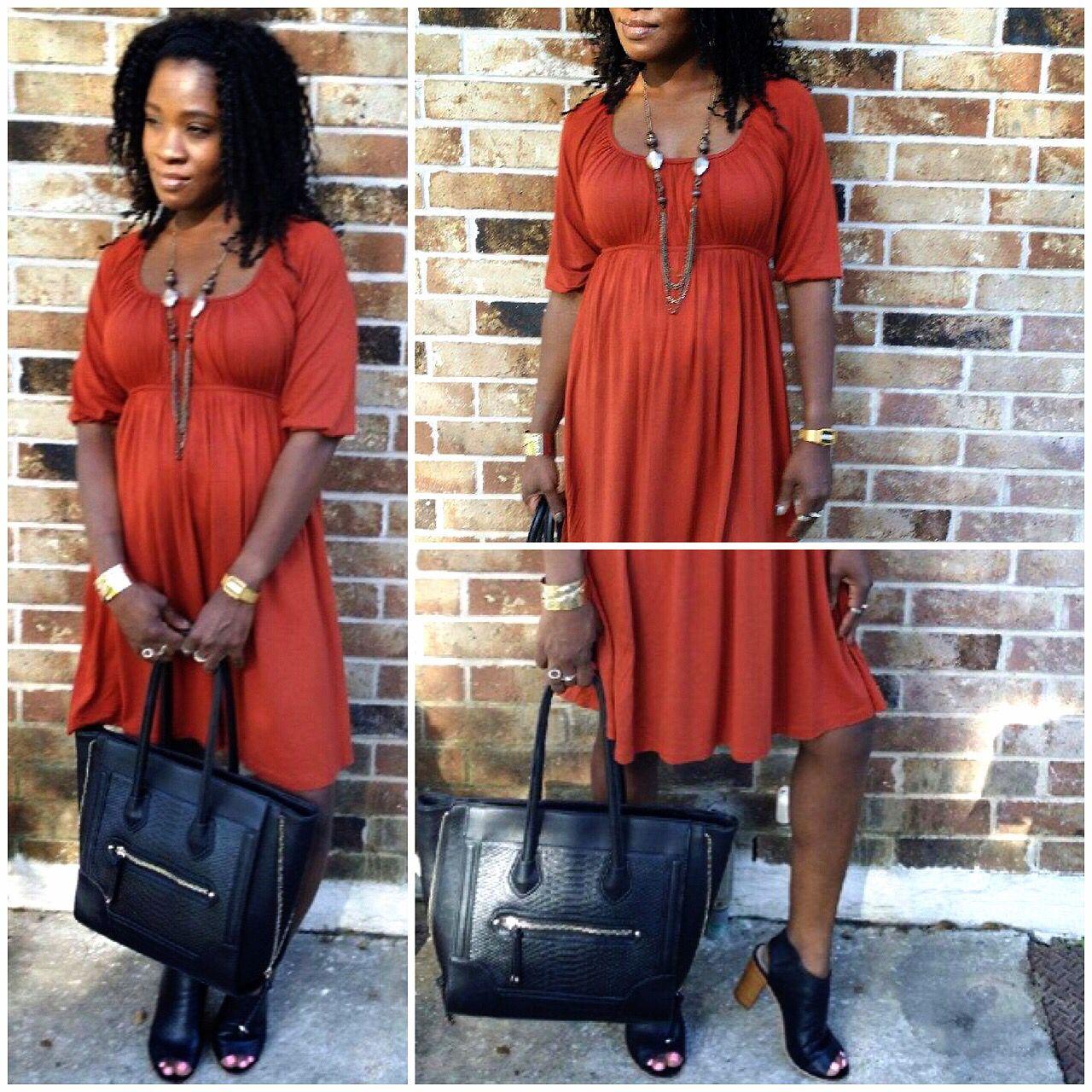 Cognac Mumu Dress Just in time for Fall.