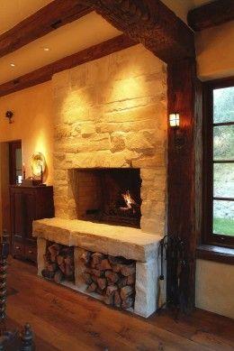 Wood Storage Below Fireplace. | Home - Fire | Pinterest ...