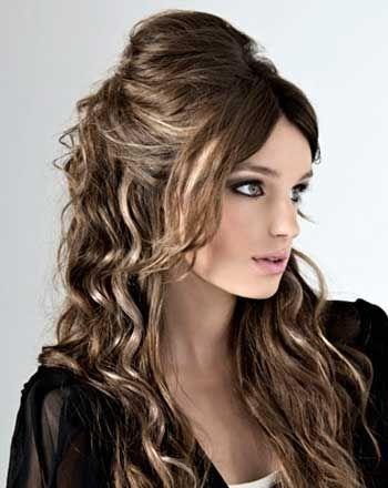 Peinados Para Fiestas Pelo Largo Ondulado Peinados De Moda