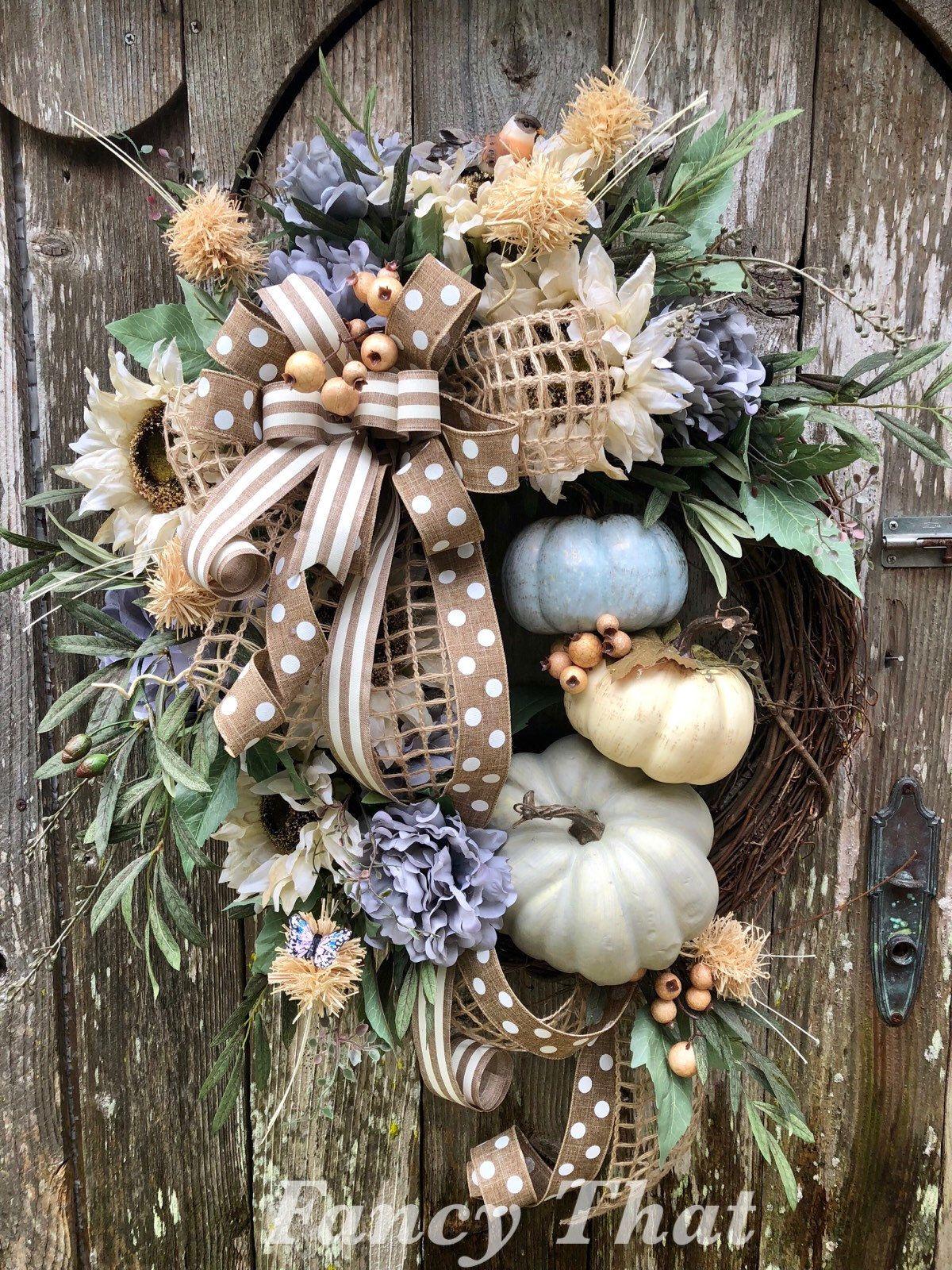 Pumpkin Wreath Thanksgiving Wreath Front Door Decor Farmhouse Decor Fall Decorations Burlap Wreath Fall Wreath Burlap Pumpkin Wreath