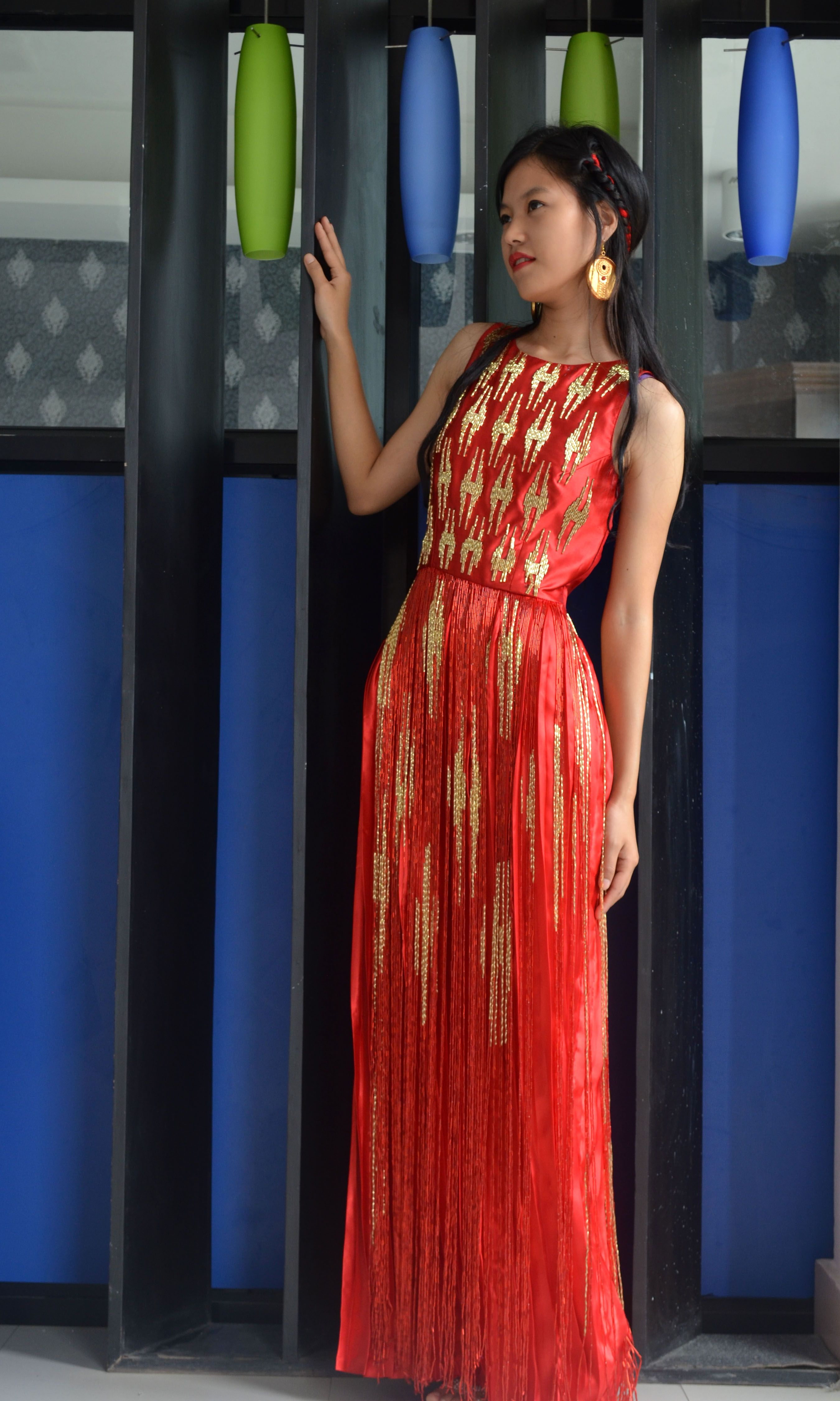 73d7ab882b638 Nepali dhaka inspired dress | Nepali dhaka pattern | Formal dresses ...