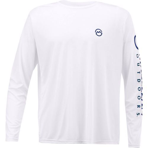 1b31aa7d2f29 Magellan Outdoors Men s Casting Crew Moisture Management Long Sleeve T-shirt  (White