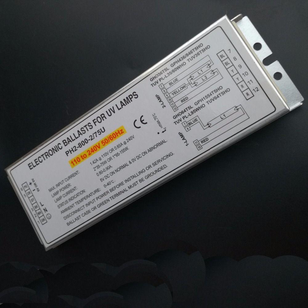 150w Germicidal Lamp Electronic Ballasts For Uv Lamp Gho36t5l Gph436 846t5ho Tuv Pl L35 60who Tuv36t5ho Ce Certificate Ballast Uv Lamp 150w