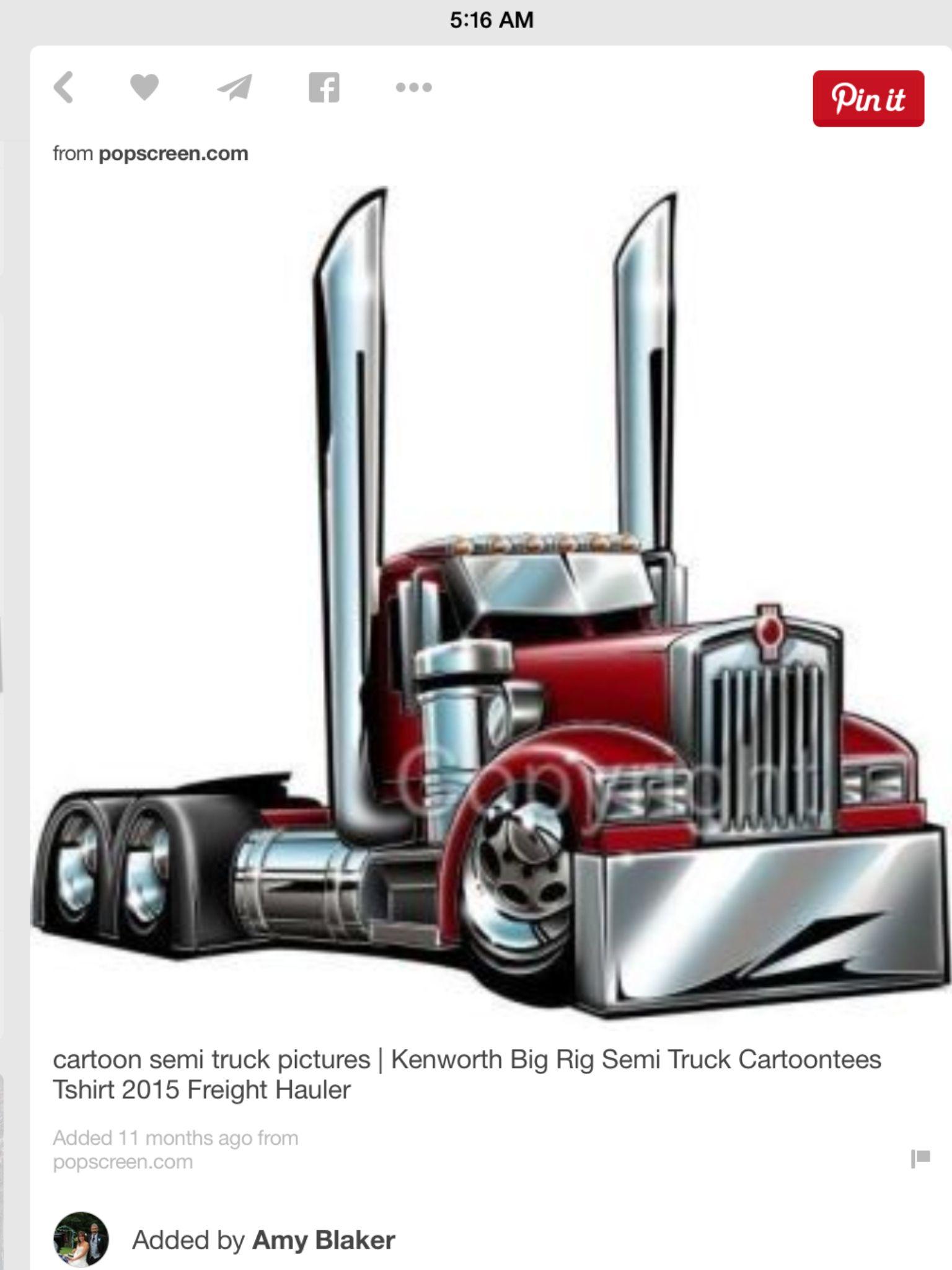 Cartoon Semi Trucks Truck Tattoo Trucks