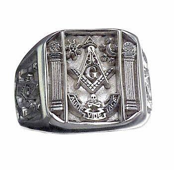 Silver Masonic Ring   Silver Masonic Rings   Freemason