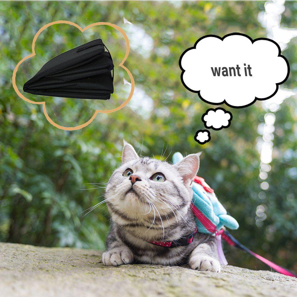 Petleader Collapsible Portable Cat Litter Box Black for