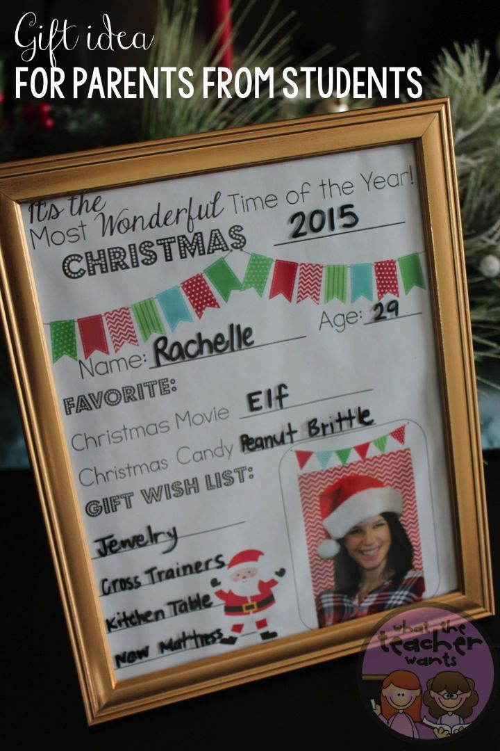 Christmas Gifts For Parents From Students.Christmas Gift Idea From Students To Their Parents