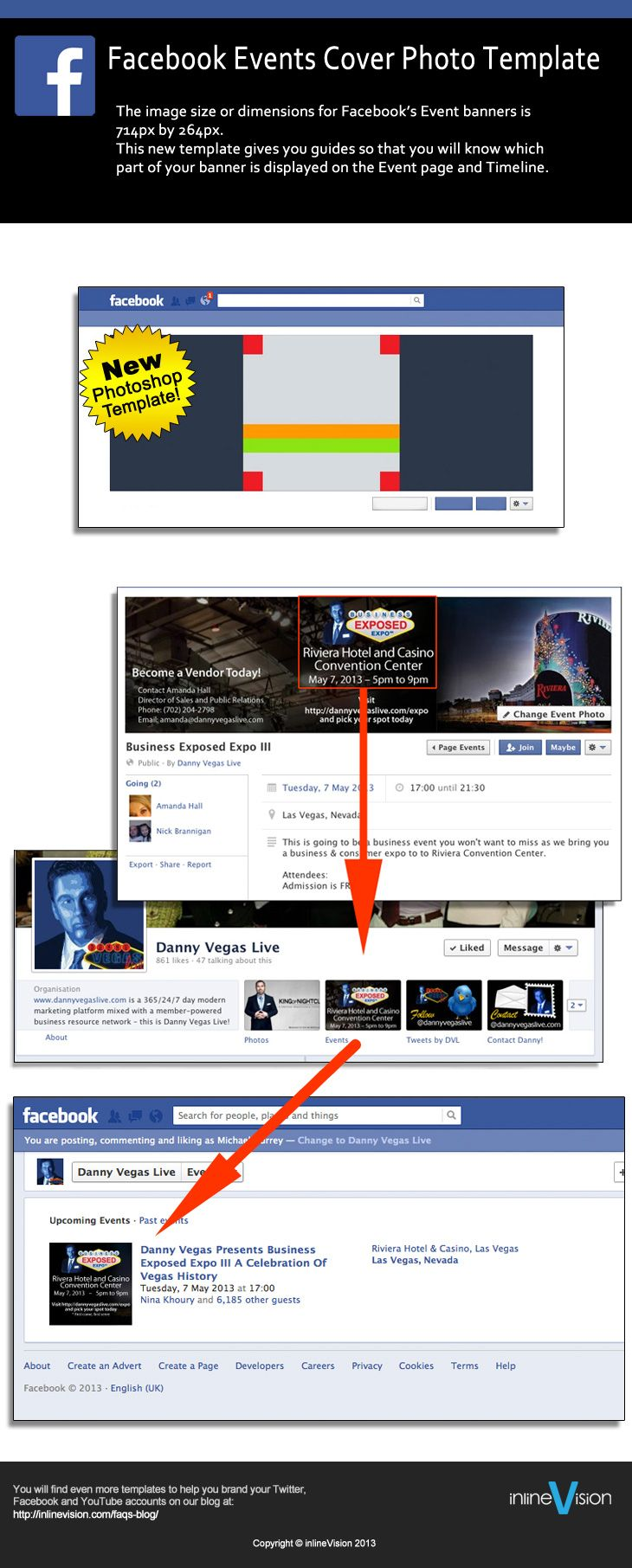 facebook event banner template the image size or dimensions for
