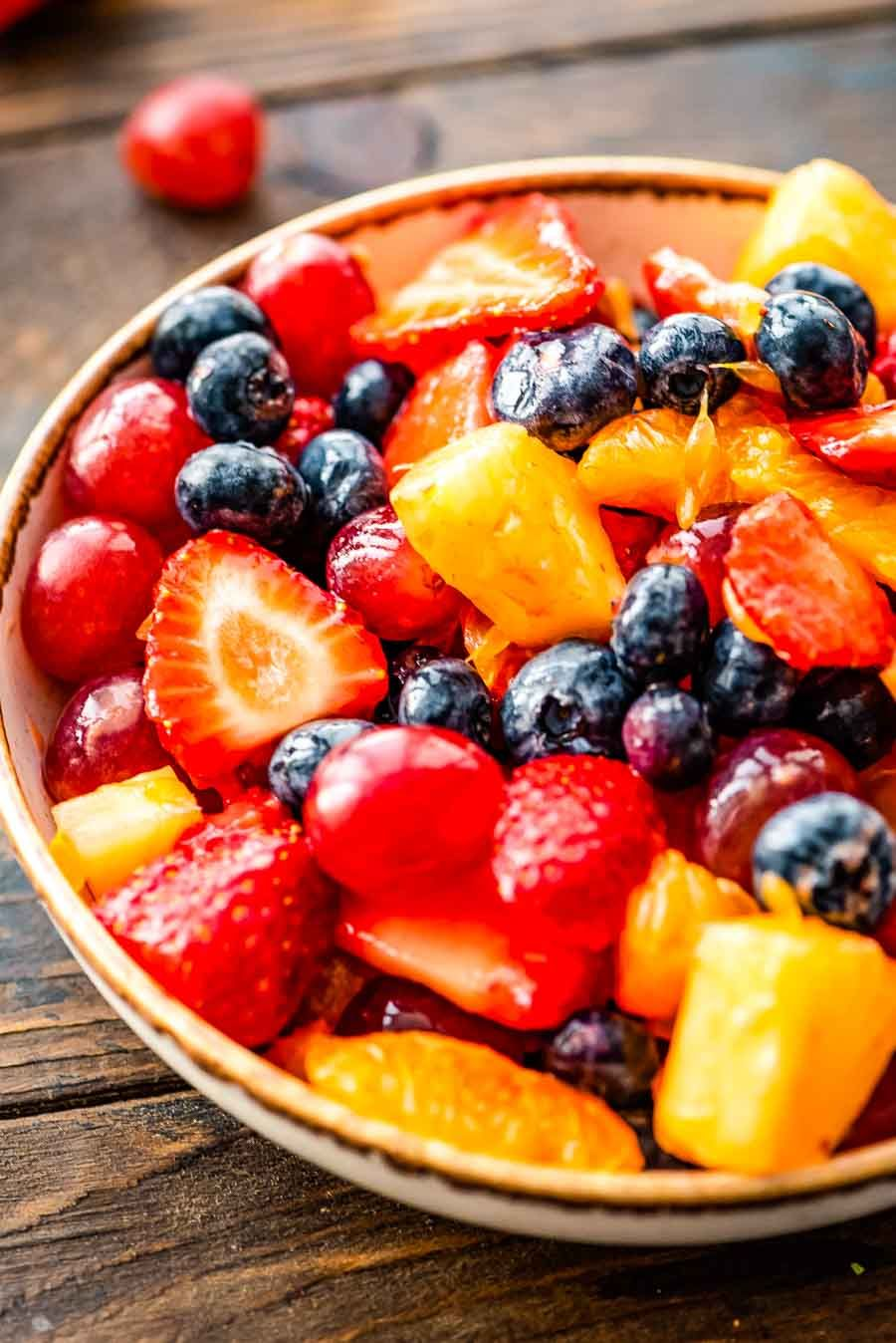 Easy fruit salad is a quick and delicious side dish for