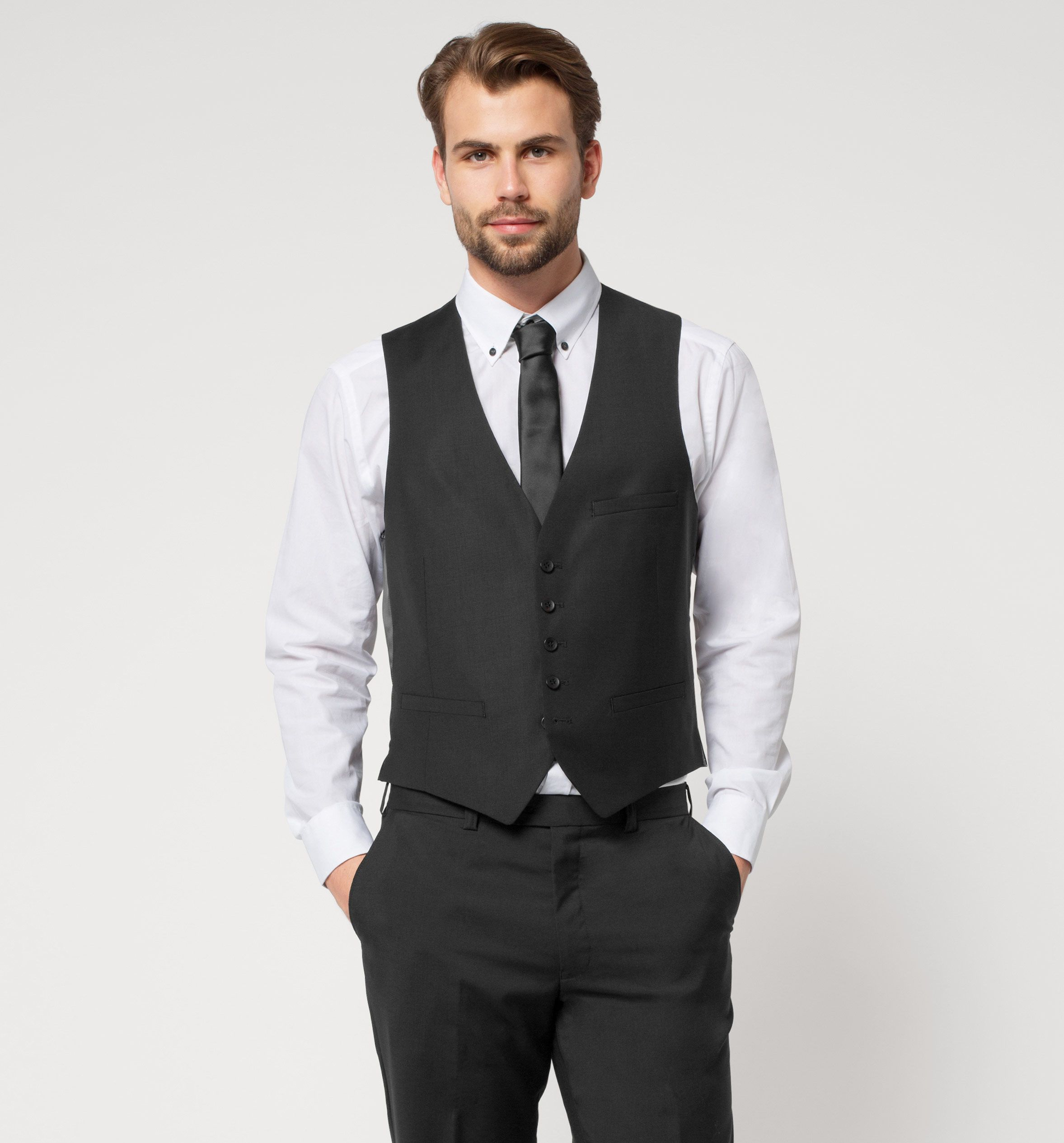 f0c15bb81d Chaleco de traje en negro. Chaleco de traje en negro Chaleco De Vestir  Hombre ...
