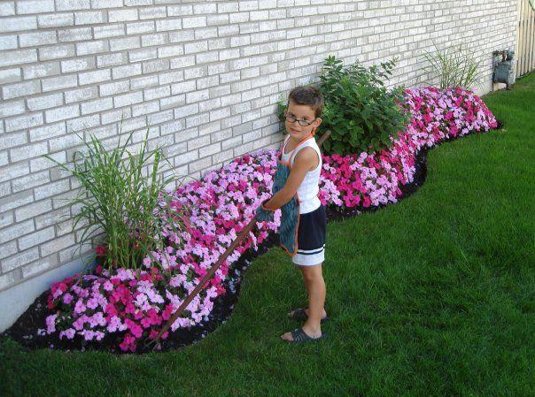 My son is my Little Gardener...