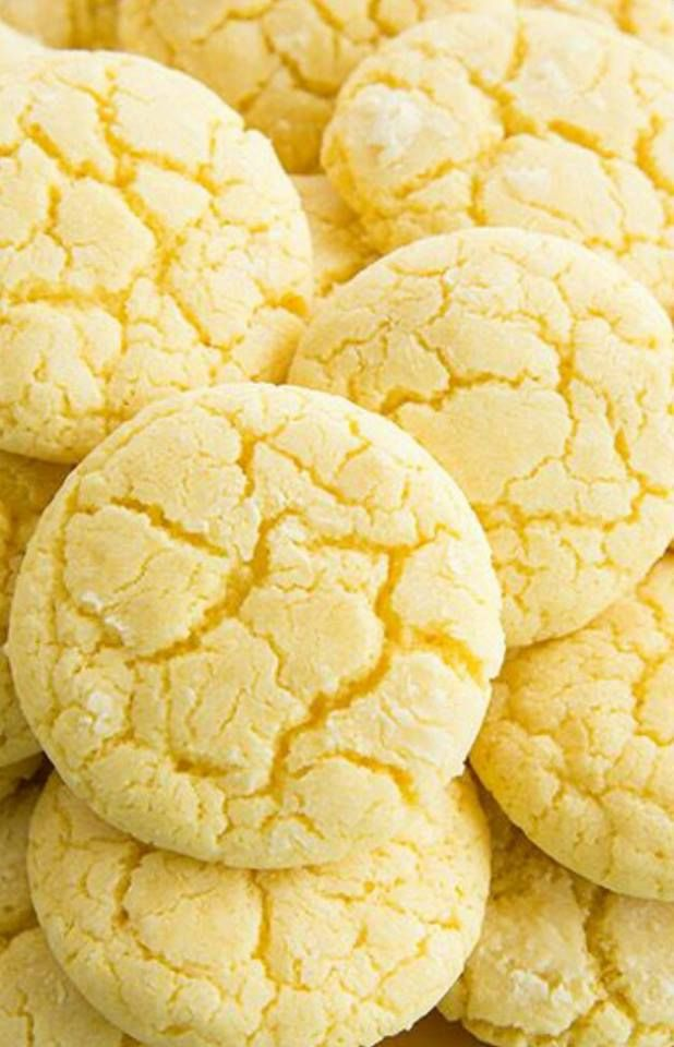 بسكويت الليمون Recipe Lemon Crinkle Cookies Lemon Cookies Lemon Recipes