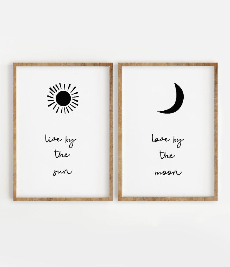 Live by the Sun Love by the Moon Print Set of 2, I