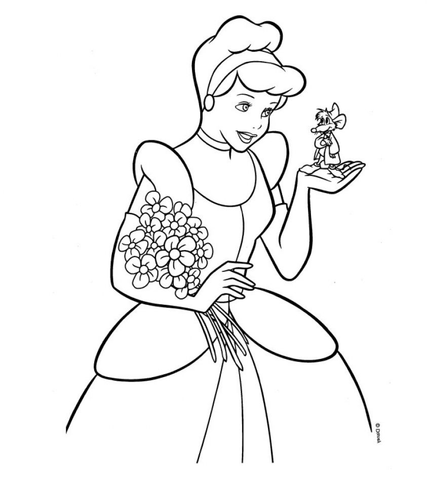 Free Printable Cinderella Coloring Pages For Kids | Cenicienta y Contar