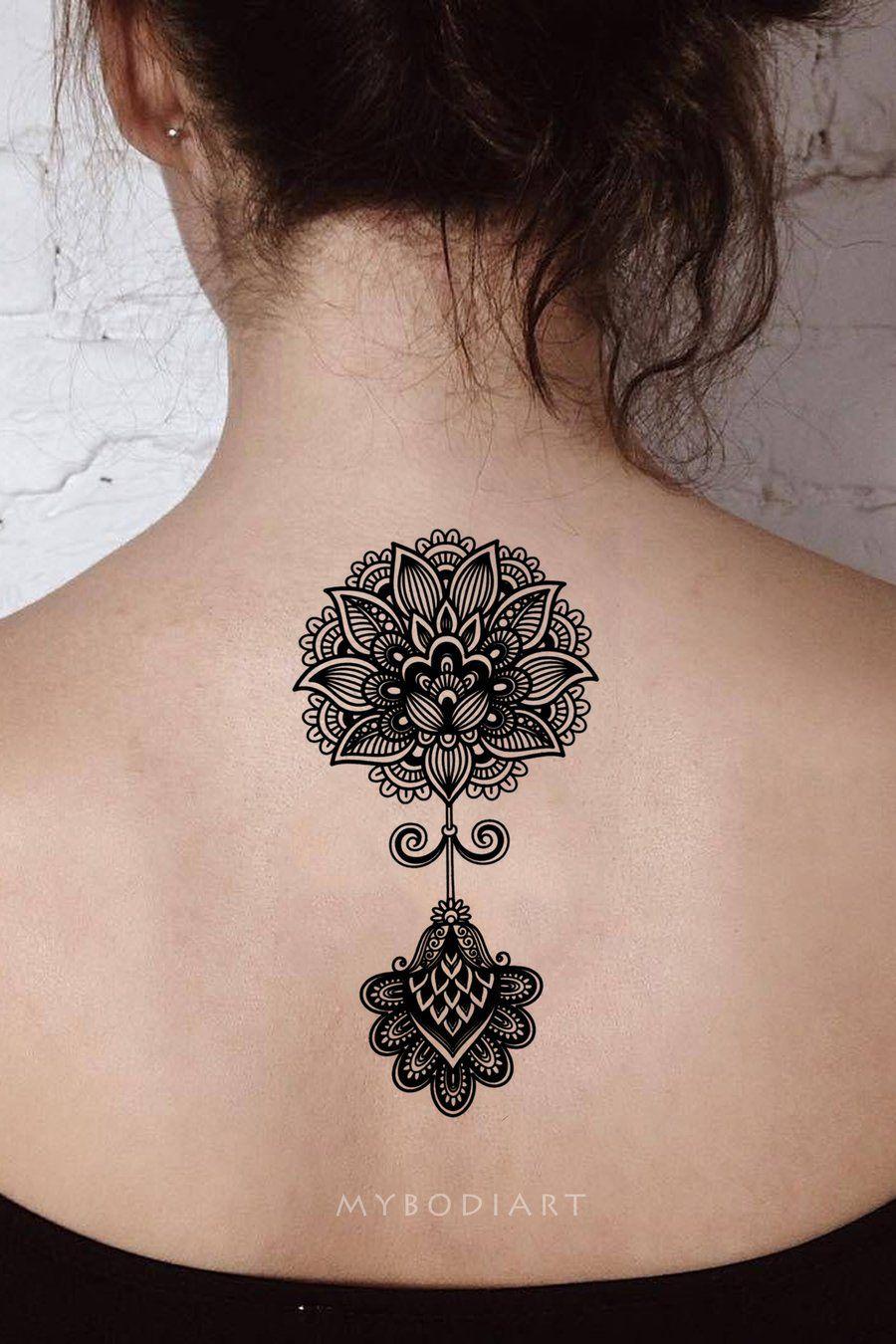 Aponi Black Henna Mandala Temporary Tattoo Tattoo S Tattoos