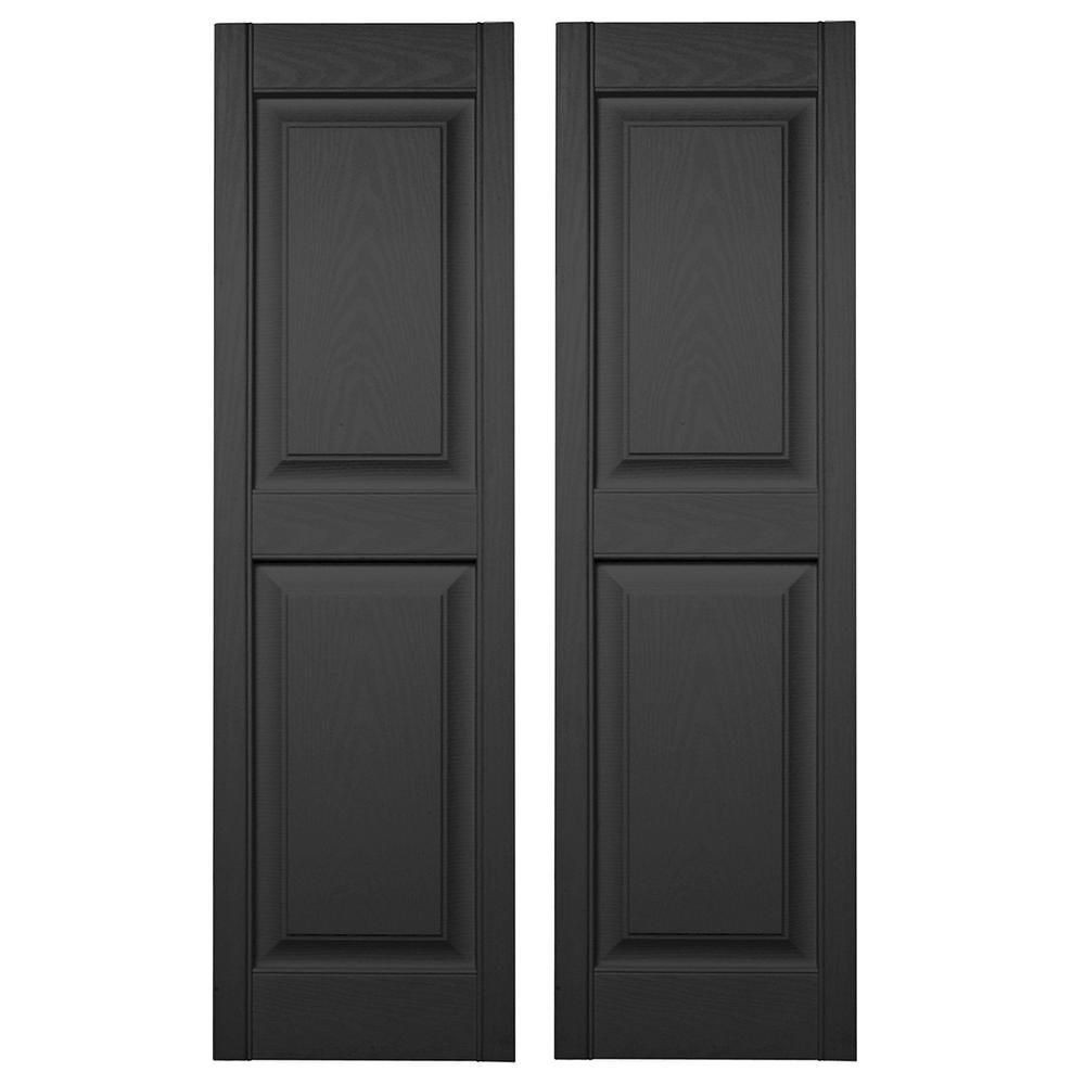 Builders Edge 15 In X 59 In Raised Panel Vinyl Exterior Shutters Pair In 010 Musket Brown 030140059010 The Home Depot In 2020 Shutters Exterior Vinyl Exterior Shutters For Sale