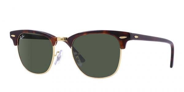 Ray Ban RB3016 CLUBMASTER MOCK TORTOISE ARISTACRYSTAL GREEN