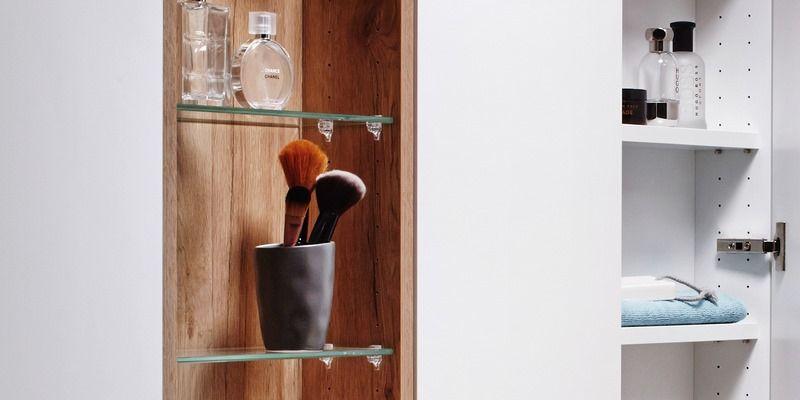 Spiegel Im Querformat Nach Mass Cavelo In 2020 Einbau Spiegelschrank Unterschrank Bad Waschtisch