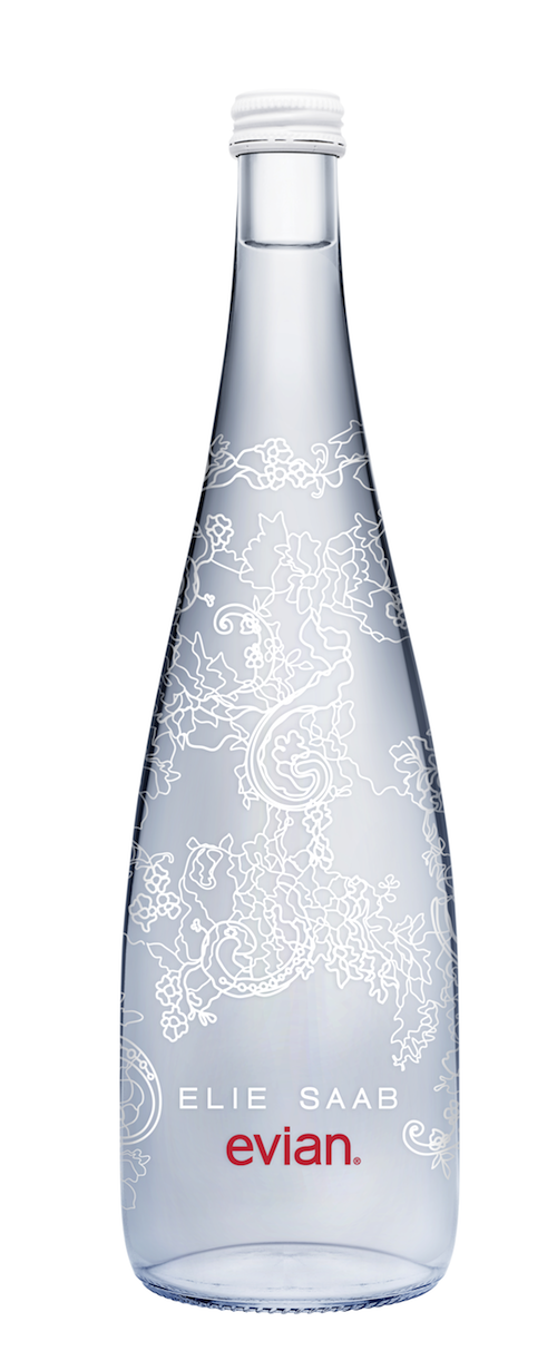 Evian Unveils Limited Edition Bottle With Intricate Lace