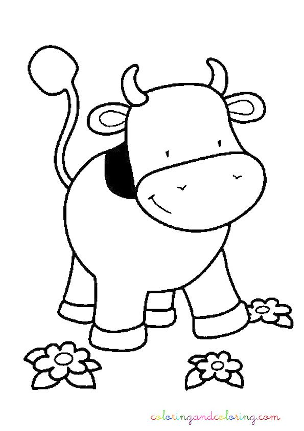Baby Cow Coloring Pages Clipart Best Flannel Board Cow