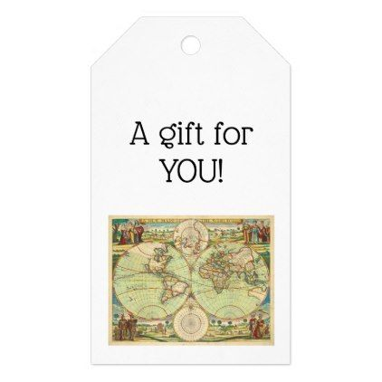 Antique world map 4 gift tags antique gifts stylish cool diy antique world map 4 gift tags antique gifts stylish cool diy custom gumiabroncs Gallery