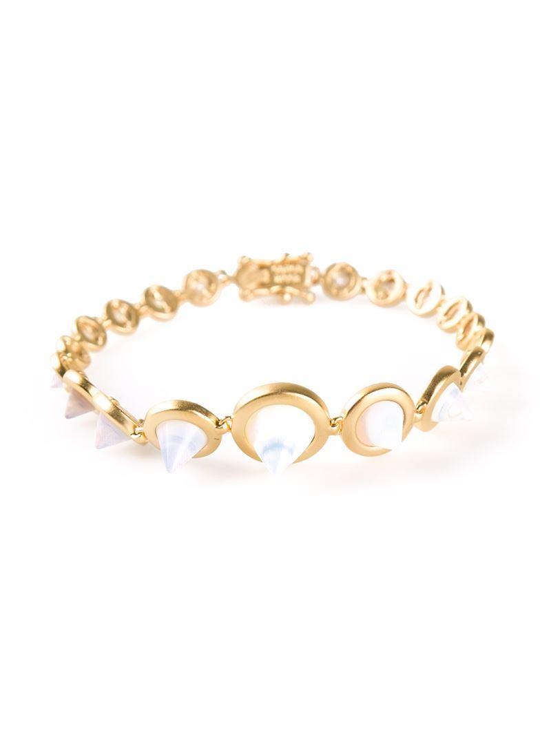 Eddie borgo gemstone cone bracelet on vein getvein