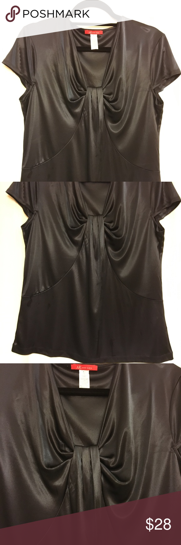 Anne Klein Women's Black Pull-over Blouse NWT - Anne Klein black blouse   Cute with jeans or dress it up for work Anne Klein Tops Blouses