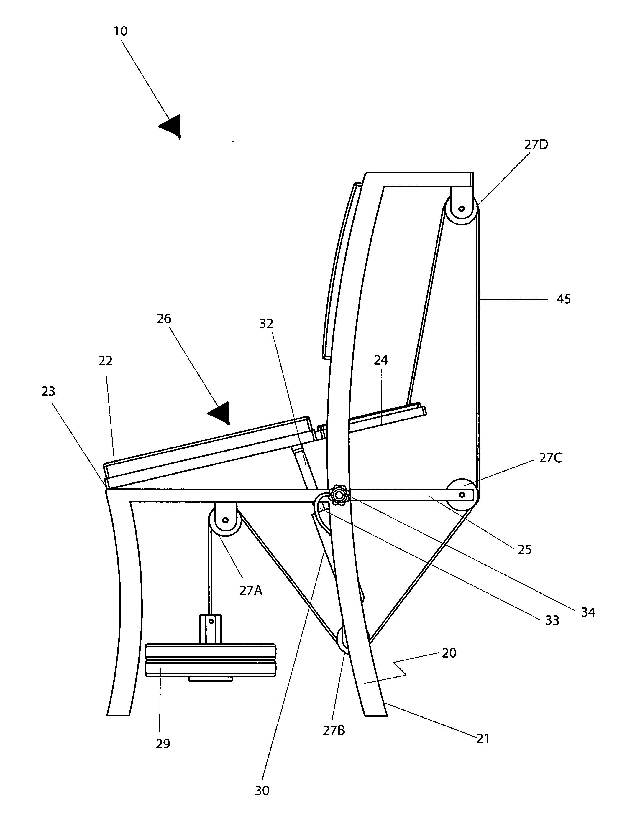 Patent US7434882 - Combination ergonomic chair and seat pivoting ...