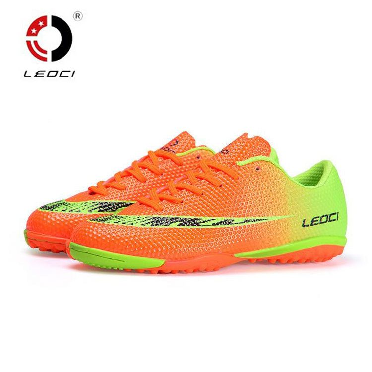 Colorful Mens Soccer Shoes Cleats Indoor Football Boots Sports Athlete Sneakers