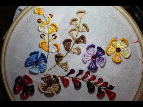 Basic ribbon embroidery stitches