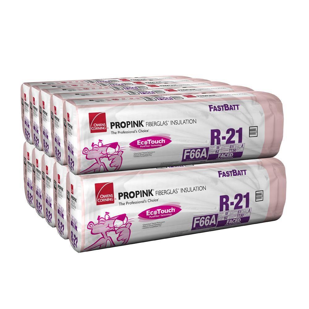 Owens Corning R 21 Ecotouch Pink Kraft Faced Fiberglass Insulation